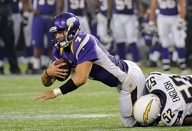 Christian Ponder #7 of the Minnesota Vikings