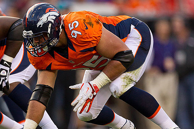 Derek Wolfe #95 of the Denver Broncos