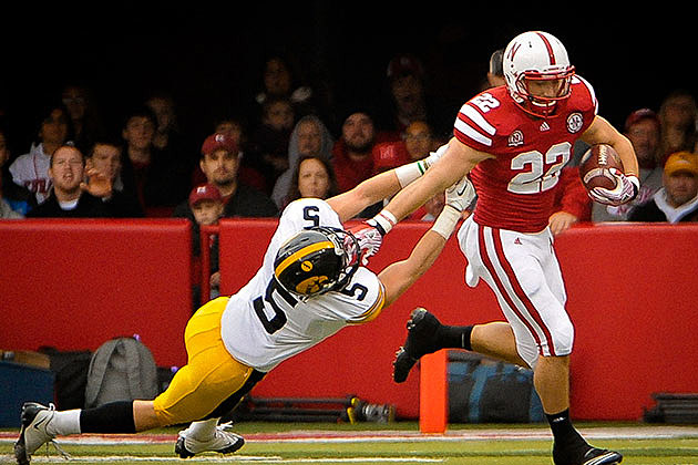 Rex Burkhead #22 of the Nebraska Cornhuskers