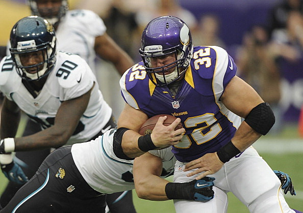 Toby Gerhart #32 of the Minnesota Vikings