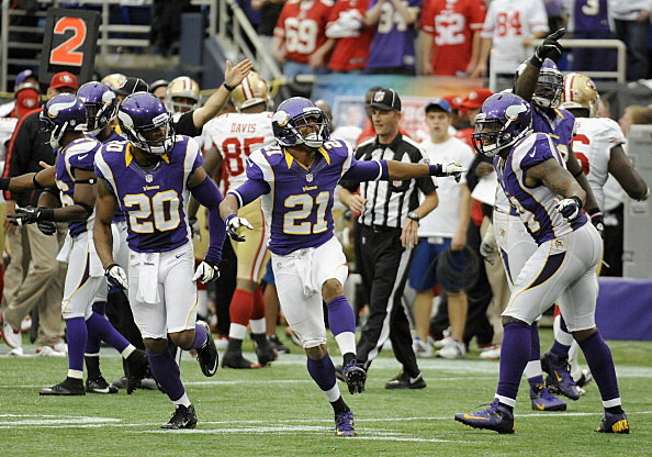 Josh Robinson #21 of the Minnesota Vikings