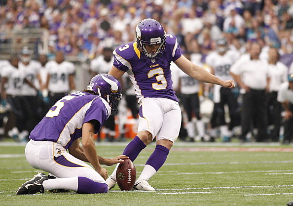 Blair Walsh #3 of the Minnesota Vikings