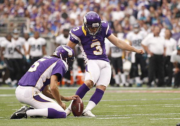 Blair Walsh #3 of the Minnesota Vikings