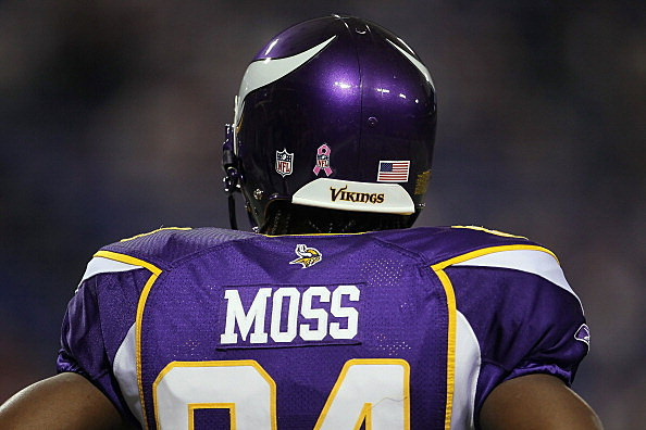 Wide receiver Randy Moss #84 the Minnesota Vikings