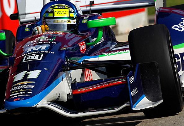 Tony Kanaan of Brazil drives his #11 GEICO KV Racing Technology Chevy Dallara DW12