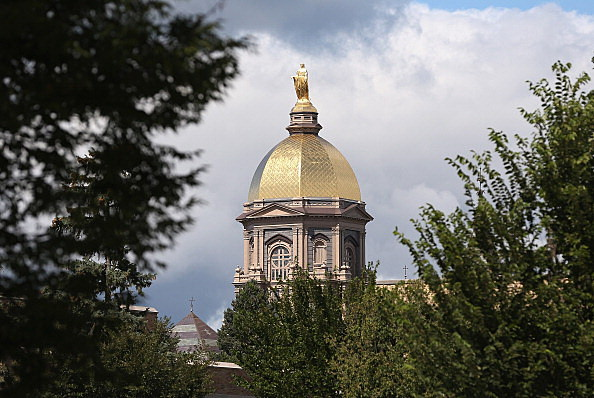 "The ""Golden Dome"" at Notre Dame University"