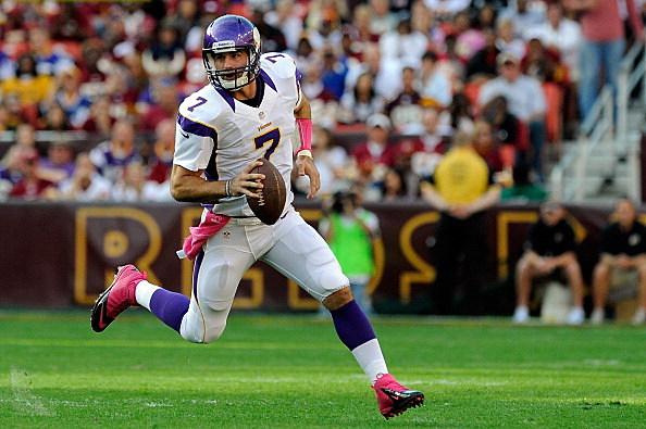 Christian Ponder #7 of the Minnesota Vikings