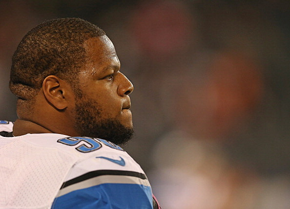 Ndamukong Suh #90 of the Detroit Lions
