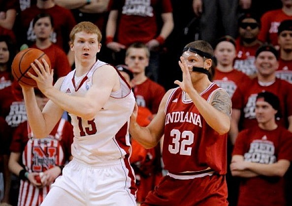 Brandon Ubel #13 of the Nebraska Cornhuskers