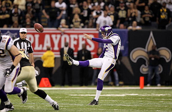 Chris Kluwe #5 of the Minnesota Vikings