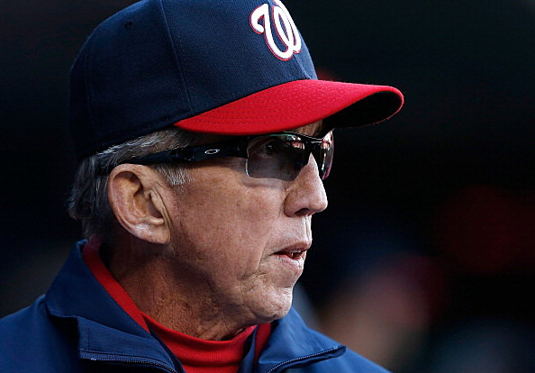 Manager Davey Johnson of the Washington Nationals