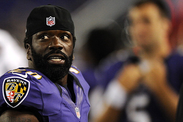 Safety Ed Reed #20 of the Baltimore Ravens