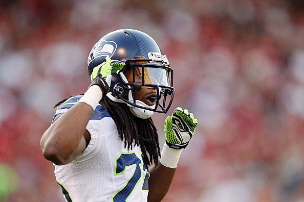 Cornerback Richard Sherman #25 of the Seattle Seahawks