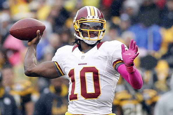 Robert Griffin III #10 of the Washington Redskins