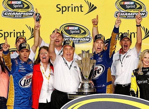 Roger Penske and Brad Keselowski, 2012 NASCAR Sprint Cup Champions