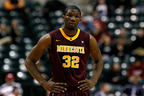 Trevor Mbakwe #32 of the Minnesota Golden Gophers