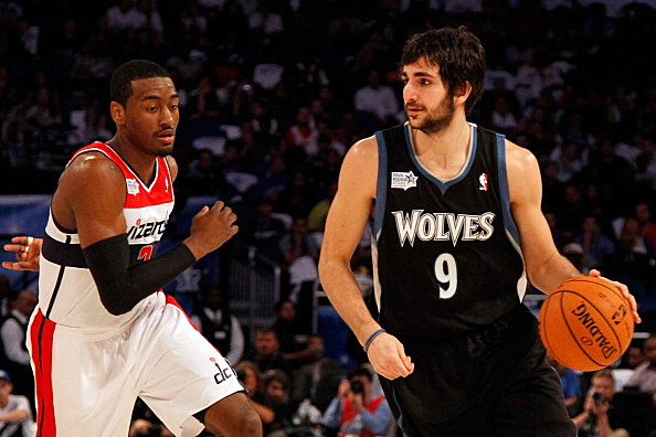 Ricky Rubio #9 of the Minnesota Timberwolves