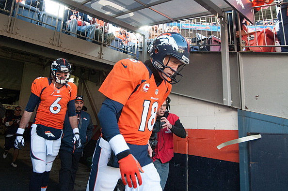Brock Osweiler and Peyton Manning, Denver Broncos