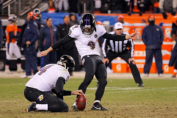 Justin Tucker #9 of the Baltimore Ravens