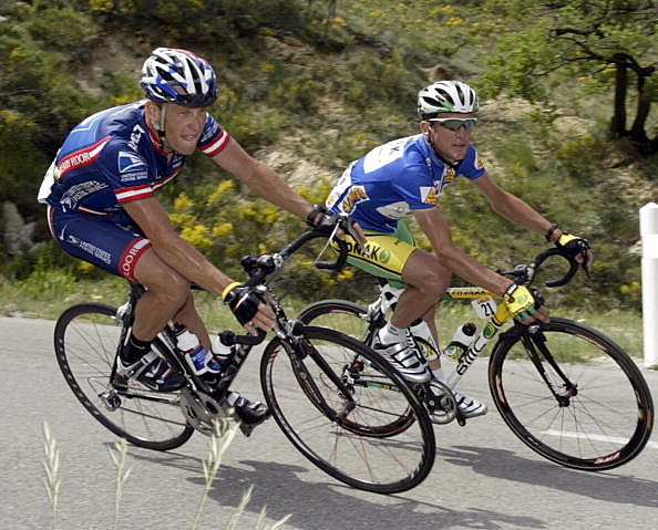 Lance Armstrong and Tyler Hamilton