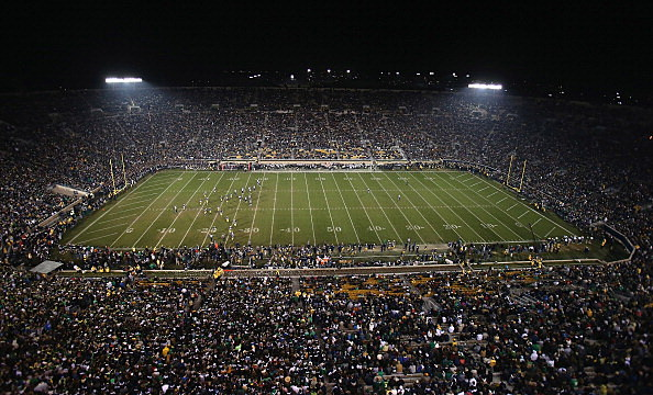 A general view of Notre Dame Stadium