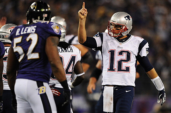 Quarterback Tom Brady #12 of the New England Patriots