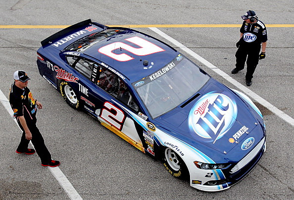 Brad Keselowski, driver of the #2 Miller Lite Ford