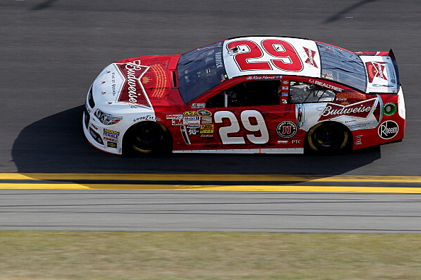 Kevin Harvick drives the #29 Budweiser Chevrolet
