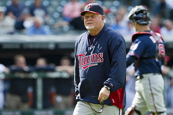Manager Ron Gardenhire #35 of the Minnesota Twins