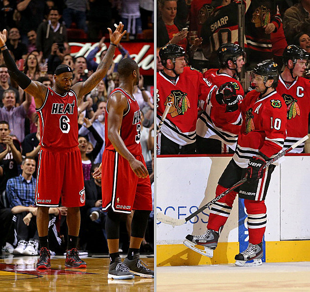 Miami Heat, Chicago Blackhawks