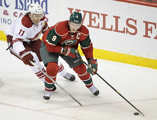 Mikko Koivu, Minnesota Wild vs Phoenix Coyote 03-27-2013