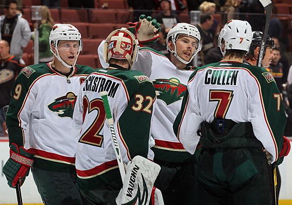 Mikko Koivu, Niklas Backstrom, Nate Prosser and Matt Cullen, Minnesota Wild