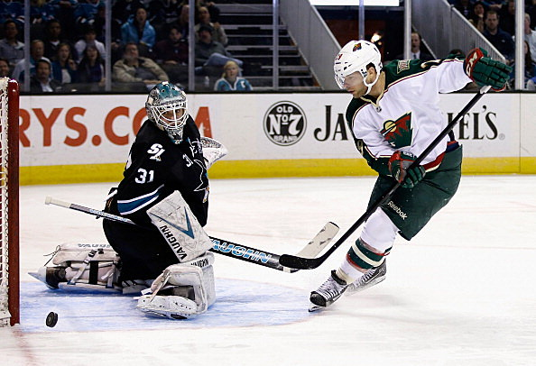 Jason Pominville, Minnesota Wild vs San Jose Sharks 04-18-2013