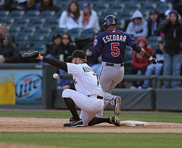 Jeff Keppinger, Chicago White Sox and Eduardo Escobar, Minnesota Twins 04-20-2013