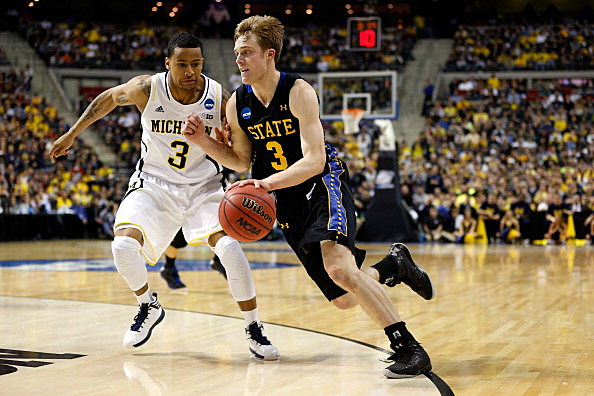 Nate Wolters, South Dakota State Jackrabbits vs Michigan, NCAA Tournament, 03-21-2013