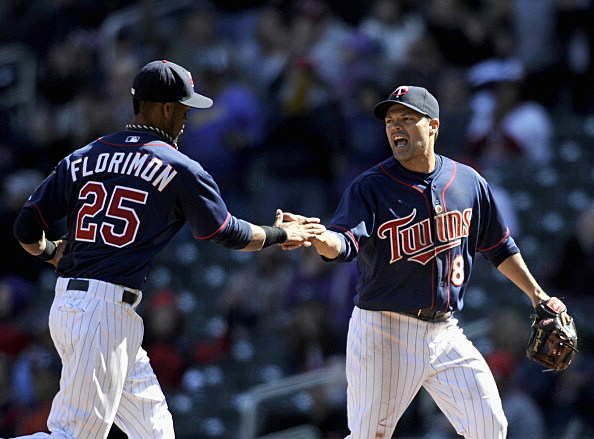 Pedro Florimon and Jamey Carroll, Minnesota Twins
