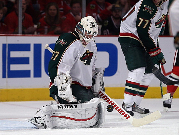 Josh Harding, Minnesota Wild vs Chicago Blackhawks, Stanley Cup Playoffs, 04-30-2013