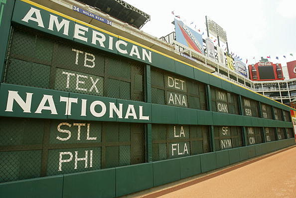 Baseball Scoreboard, The Ballpark at Arlington