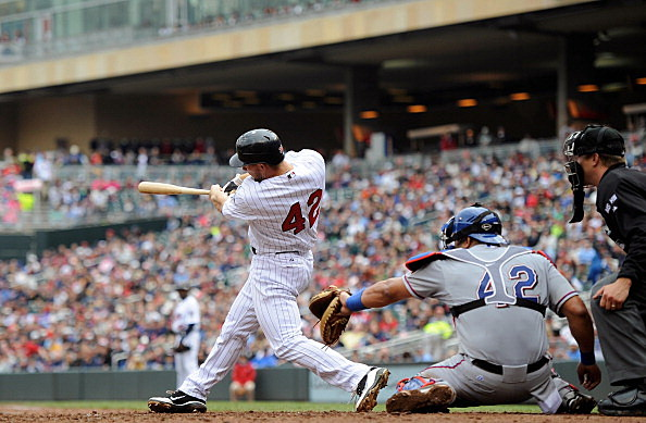 Clete Thomas, Minnesota Twins vs Texas Rangers 04-15-2013