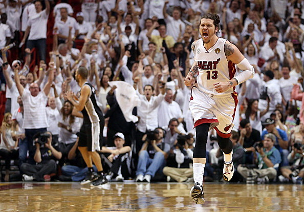 Mike Miller, Miami Heat, NBA Finals Game 2 06-09-2013