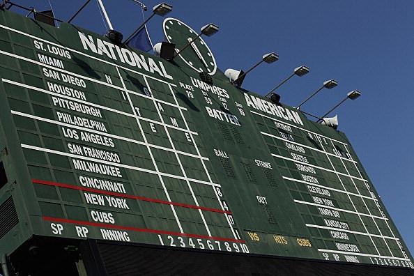 Baseball Scoreboard, Wrigley Field