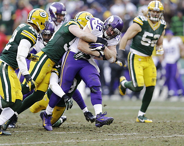 Toby Gerhart , Minnesota Vikings vs Green Bay Packers