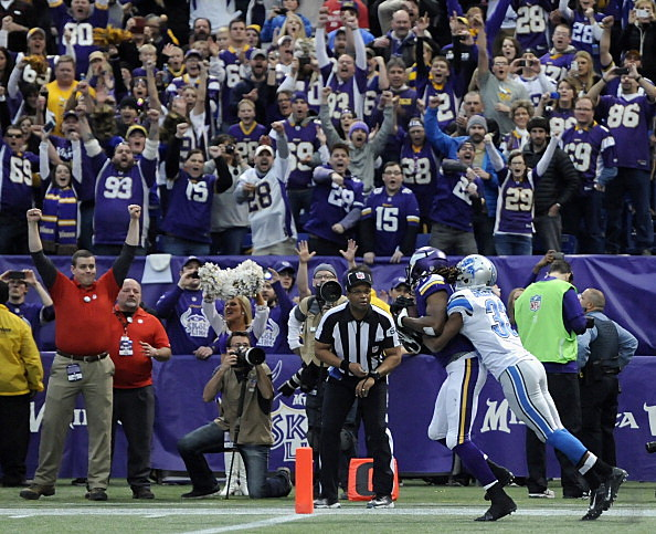Cordarrelle Patterson, Minnesota Vikings and Chris Greenwood, Detroit Lions