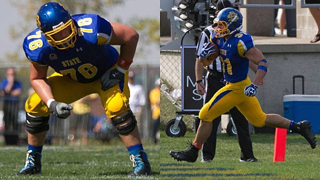 Bryan Witzman and Zach Zenner, South Dakota State Jackrabbits