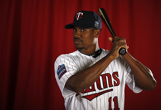 Jacque Jones #11 of the Minnesota Twins