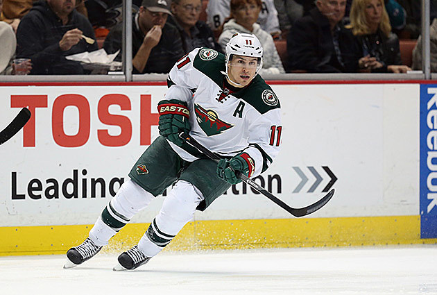 Zach Parise #11 of the Minnesota Wild