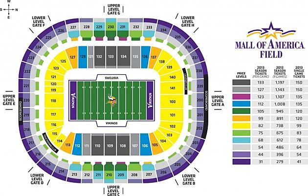 Minnesota Vikings Announce 2014 Season Ticket Prices