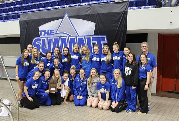 South Dakota State Jackrabbits swimming and diving