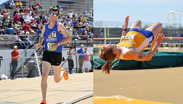 Trent Lusignan and Mary Wirth, South Dakota State Jackrabbits track and field