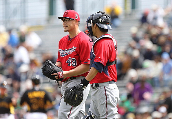 Vance Worley and Kurt Suzuki, Minnesota Twins